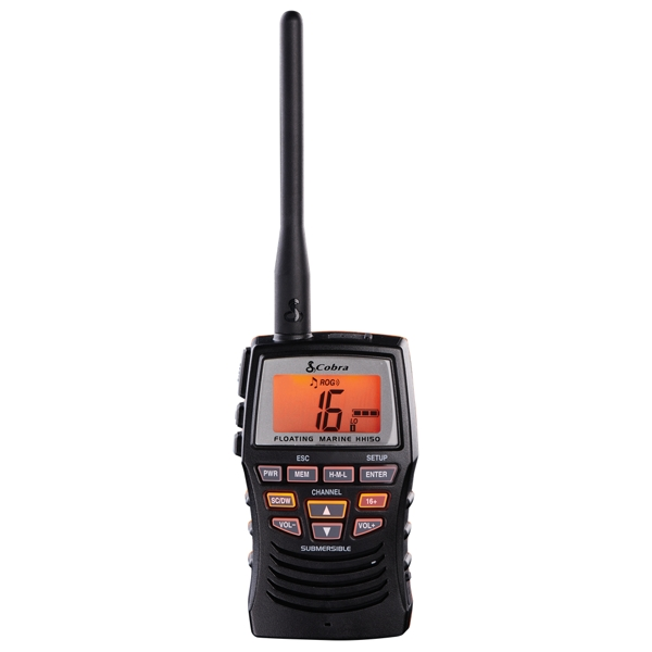 Cobra HH150 Floating Waterproof Handheld VHF Marine Radio
